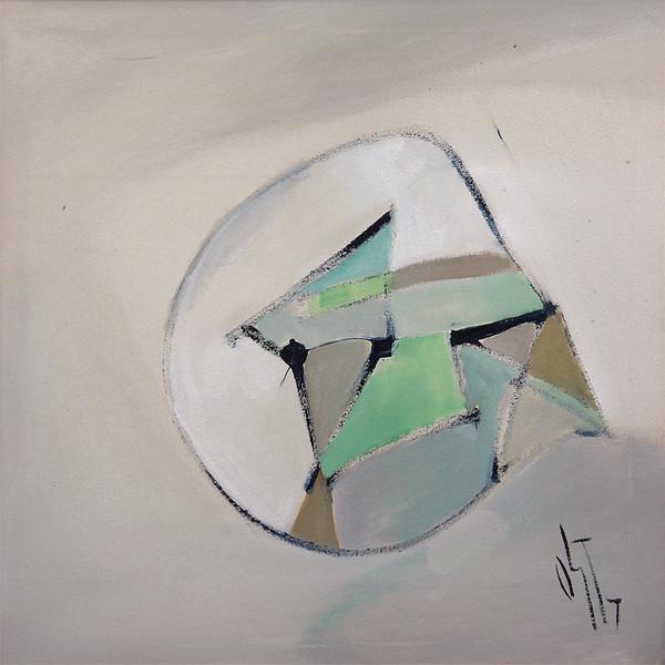 Abstrakt, Malerei, Figural, Ölmalerei, Stille