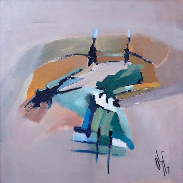 Malerei, Ölmalerei, Abstrakt, Spaziergang