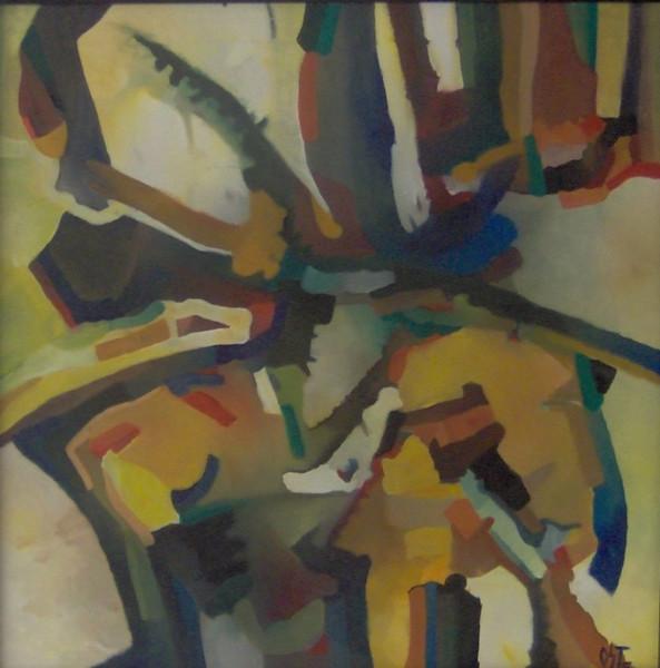 Malerei, Abstrakt, Ölmalerei, Burg