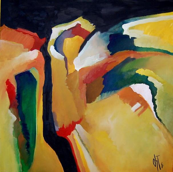 Ölmalerei, Lounge, Abstrakt, Kraft, Malerei, Himmel
