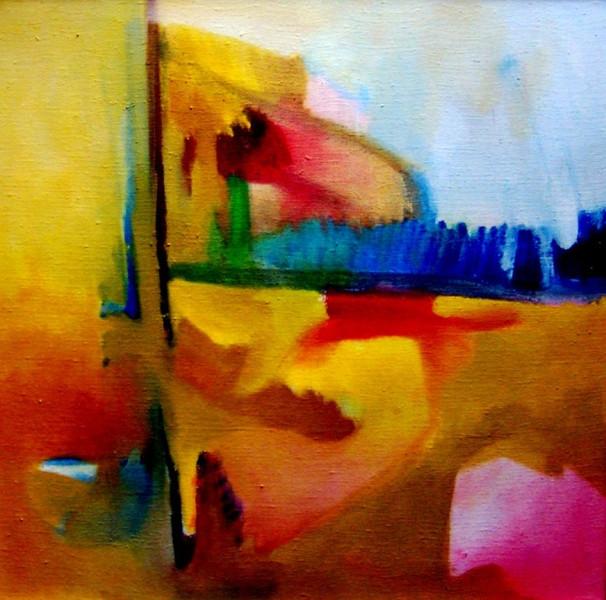 Ölmalerei, Pfadfinder, Selbstportrait, Malerei, Abstrakt,