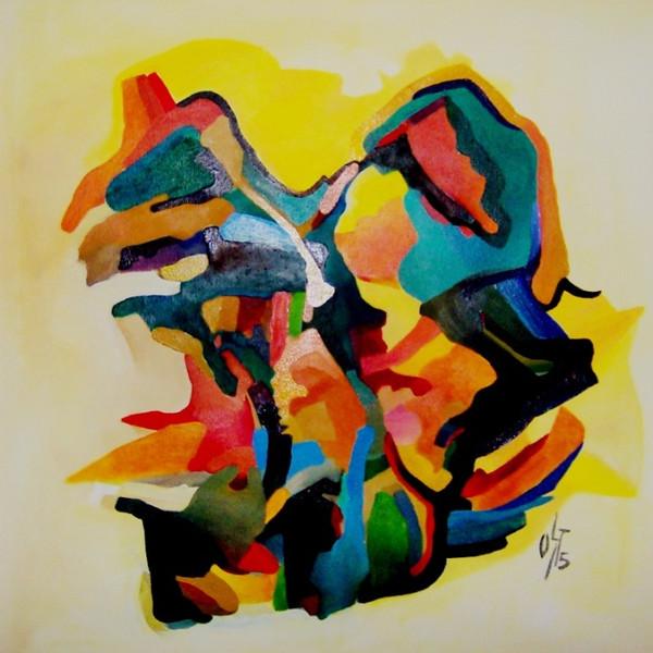 Abstrakt, Malerei, Ölmalerei, Scharf, Salat