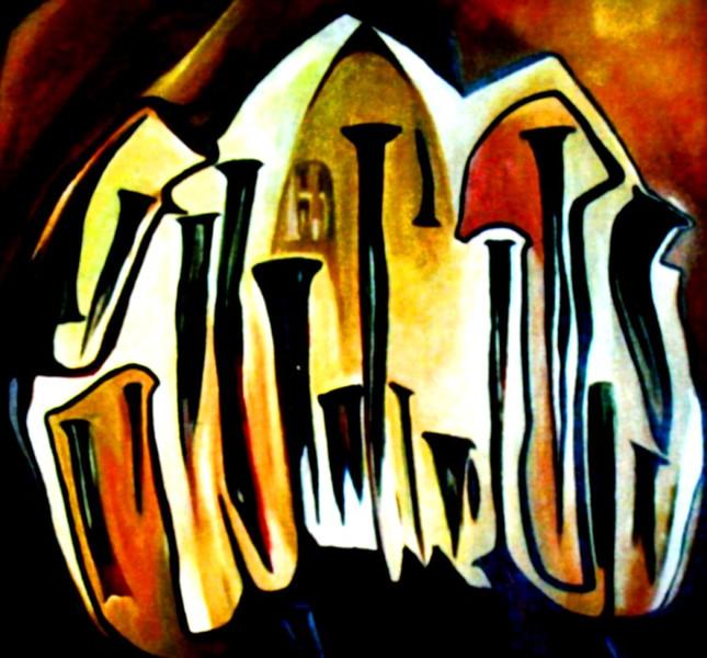 Ölmalerei, Karfreitag, Malerei, Abstrakt