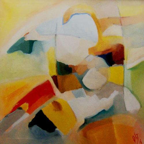 Ölmalerei, Malerei, Abstrakt, Landschaft