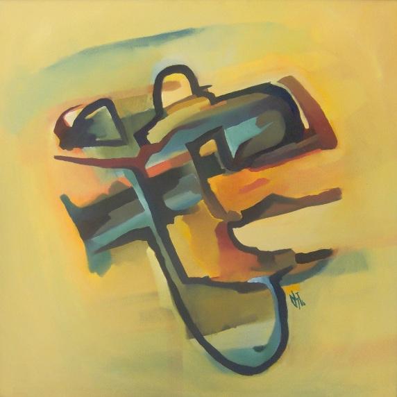 Malerei, Abstrakt, Ölmalerei, Ritter