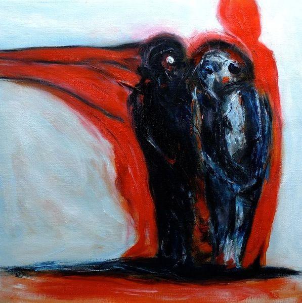 Traum, Rot, Nonsens, Malerei