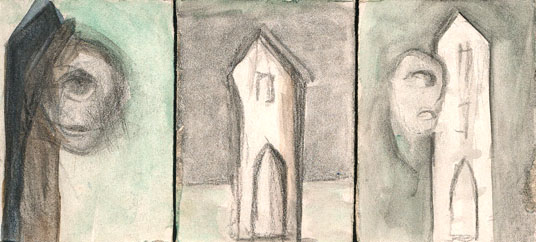 Figural, Malerei, Turm