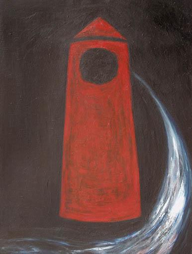 Landschaft, Malerei, Leuchtturm