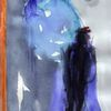 Blau, Surreal, Abstrakt, Figural
