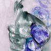Blau, Abstrakt, Surreal, Aquarell