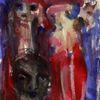 Surreal, Rot, Figural, Malerei