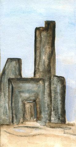 Malerei, Figural, Ruine