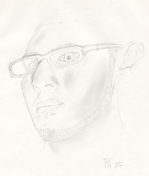 Portrait, Zeichnung, Zeichnungen, Selbstportrait
