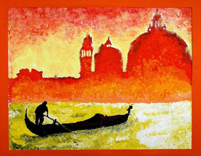 Italien, Malerei, Acrylmalerei, Venedig