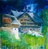 Acrylmalerei, Haus, Malerei, Landschaft