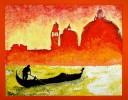 Acrylmalerei, Venedig, Italien, Malerei