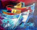 Boot, Acrylmalerei, Malerei