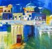 Stadt, Santorin, Malerei, Griechenland