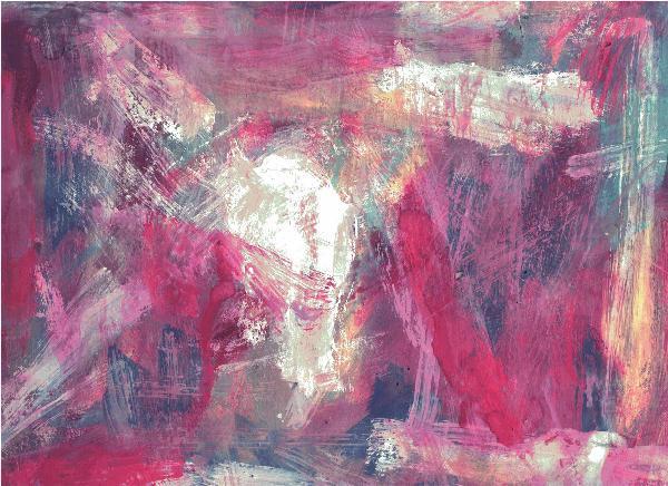 Fleck, Abstrakt, Modern, Malerei, Rosa, Temperamalerei