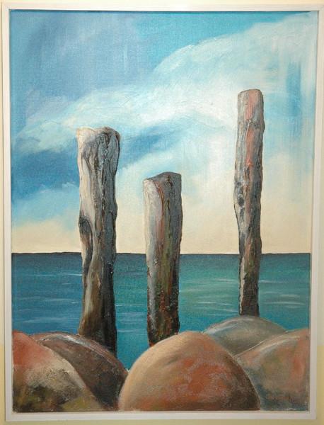 Wasser, Landschaft, Sonne, Acrylmalerei, Meer, Küste