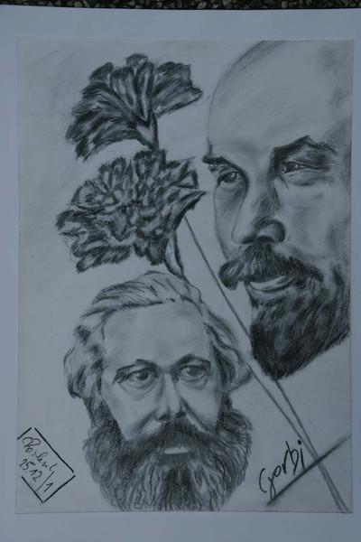 Politik, Zeichnung, Kopf, Portrait, Viktringer kreis, Menschen