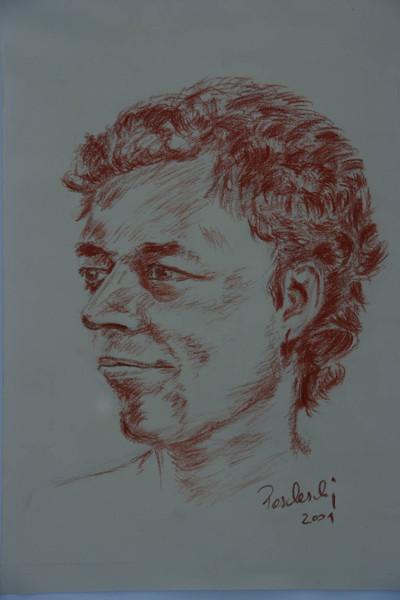 Zeichnung, Rötel, Portrait, Kopf, Gesicht, Viktringer kreis