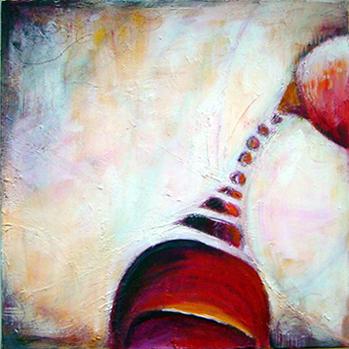 Acrylmalerei, Abstrakt, Malerei, Begegnung