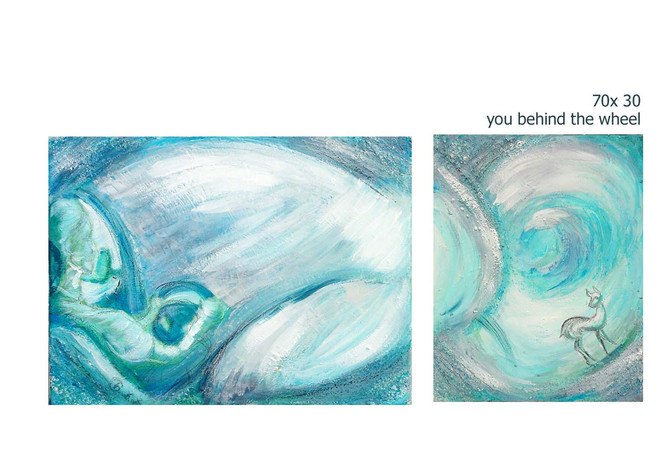 Auto, Abstrakt, Malerei, Blau, Steuer, Acrylmalerei