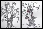 Kritzelei, Baum, Grafik, Skizze