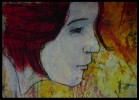 Mischtechnik, Frau, Malerei, Menschen