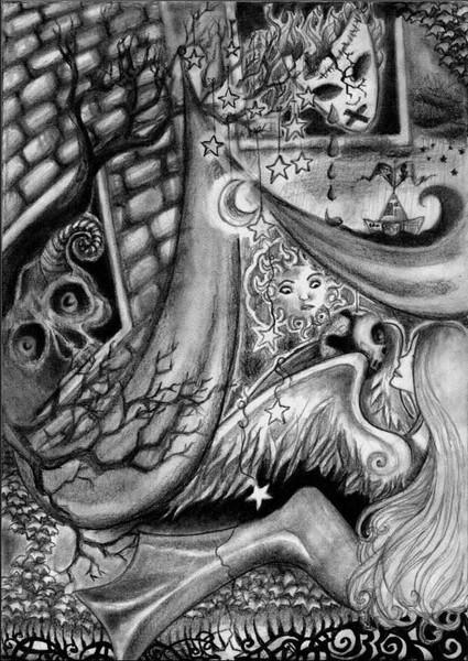 Zelt, Sonne, Zeichnung, Flügel, Stern, Frau