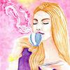 Schön, Genuss, Kaffee, Aquarellmalerei