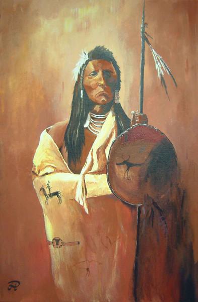 Freiheit, Kampf, Malerei, Figural, Indianer, Wilder