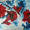 Blau, Blumen, Weihnachten, Rot