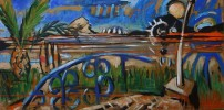 Malerei, Blick, Meer, Plus