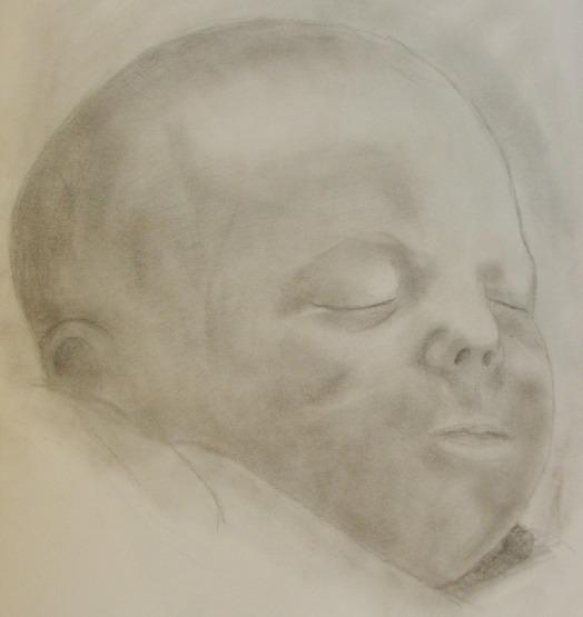 Kind, Portrait, Zeichnung, Zeichnungen
