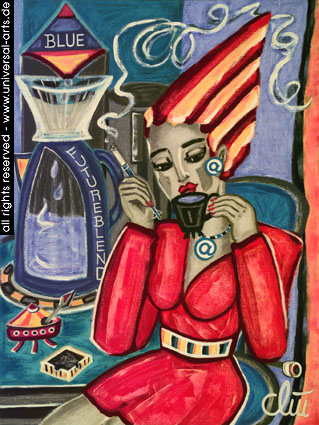 Gemälde, Acrylmalerei, Figur, Futurismus, Malerei,