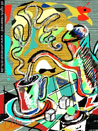 Stillleben, Grafik, Computergrafik, Digitale kunst,