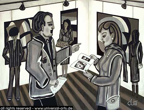 Acrylmalerei, Gemälde, Figur, Malerei,