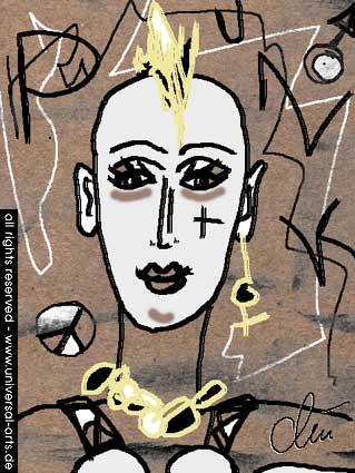 Styling, Portrait, Computergrafik, Grafik, Digitale kunst,