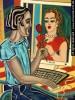 Figur, Futurismus, Gemälde, Acrylmalerei