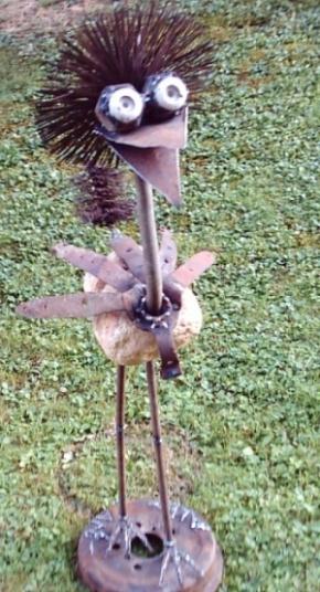 Kunsthandwerk, Metall, Vogel