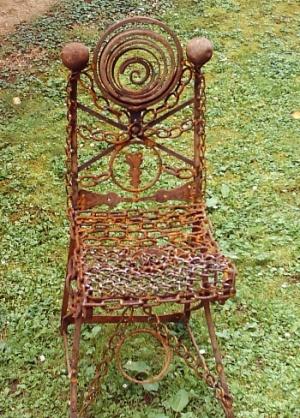 Kunsthandwerk, Metall, Stuhl