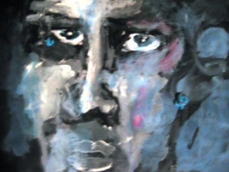 Gesicht, Figur, Acrylmalerei, Malerei, Portrait