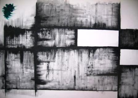 bild schwarz wei abstrakt malerei von clockwerk orange bei kunstnet. Black Bedroom Furniture Sets. Home Design Ideas