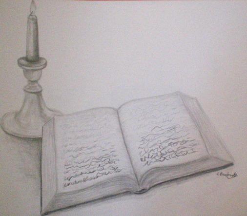 Zeichnung, Stillleben, Zeichnungen, Buch