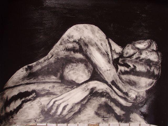 Schwarz weiß, Figural, Frau, Skulptur, Malerei, Menschen
