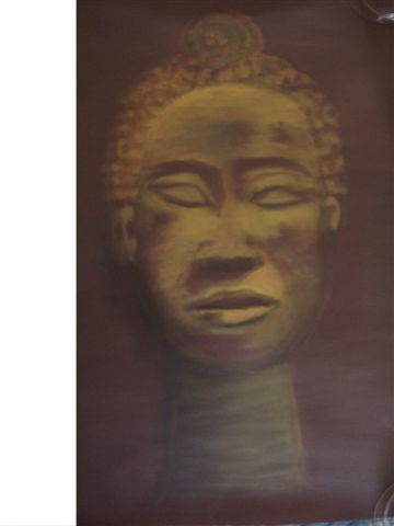 Figural, Skulptur, Afrika, Acrylmalerei, Malerei