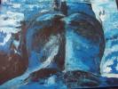 Blau, Blau akt rücken, Malerei, Akt