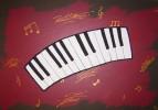 Tastatur, Rot schwarz, Klavier, Musik